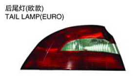 FOR SKODA SUPERB 07-09' Auto Car tail lamp tail light