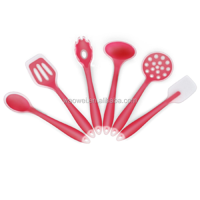 Silicone Cooking Utensils Kitchen Gadgets 6 Piece Spoon Set Tools Spatula Nylon