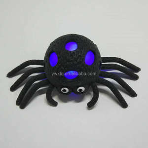 hot selling flash squishy ball kid toy,flashing spider,halloween toys