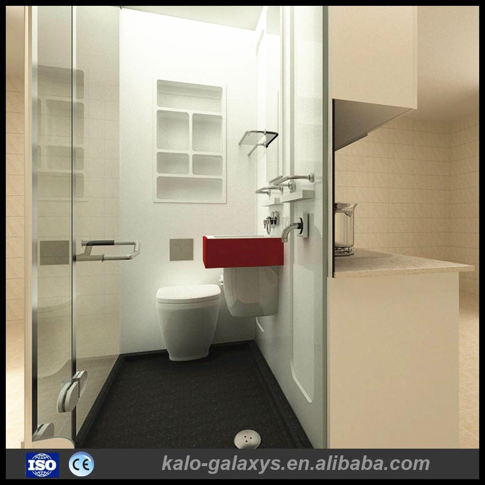 Conception de luxe hôtel de douche en verre complets préfabriqués ...