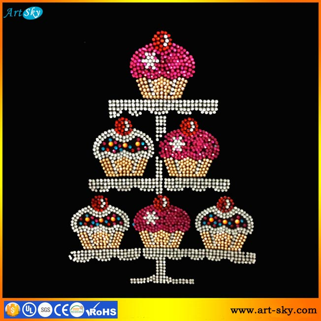 Artsky online wholesale crystal bling patches small cupcakes professional transfer paper