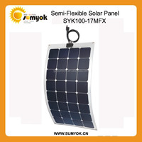 100W semi flexible solar panel, 12V battery solar panel charger