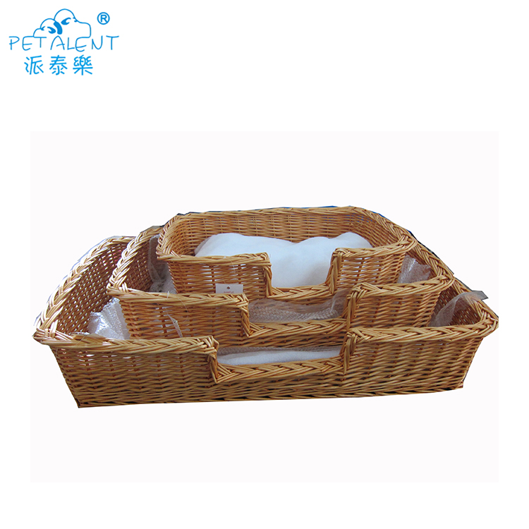 SHILEE  wholesale cool rattan pet bed with mat for summer use