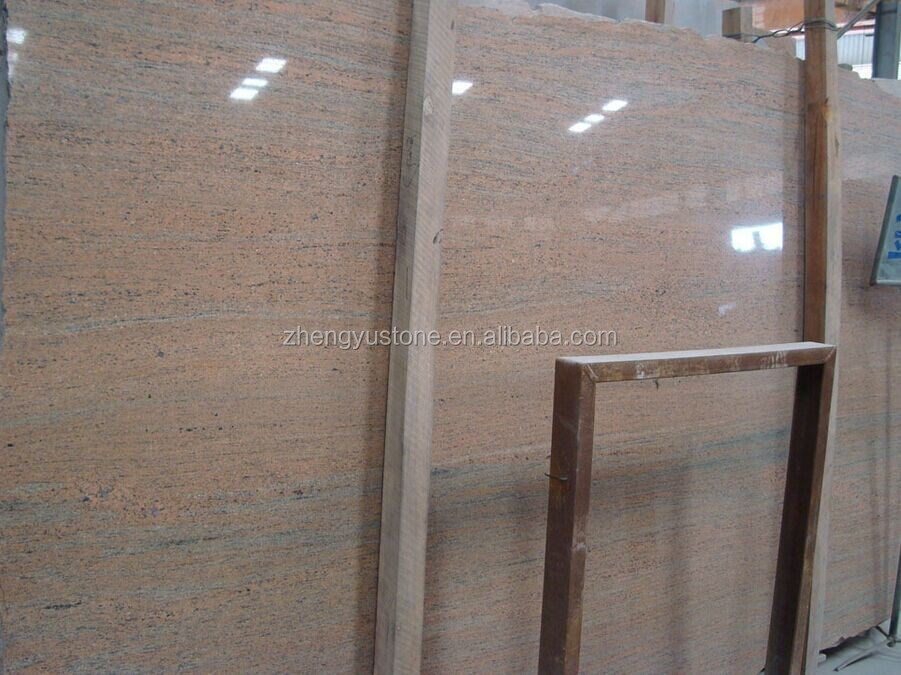 Top slae raw silk pink Granite floor tile grante slab