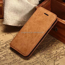 for iphone 6 TPU retro style wallet card holder leather flip mobile phone case