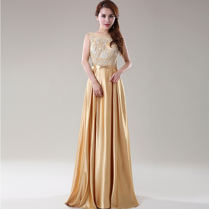 Popular Bridesmaid Dresses Gold Color-Buy Cheap Bridesmaid ...