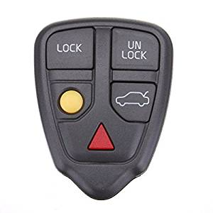Pink Lizard 5 Buttons Remote Key Case Cover Fob For Volvo S60 S70 S80 S90 V70