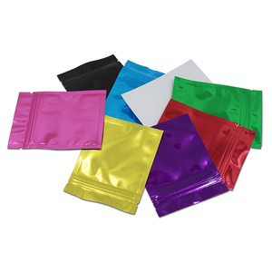 Custom Different Size Aluminum Foil Colorful Zipper Pouch Bag