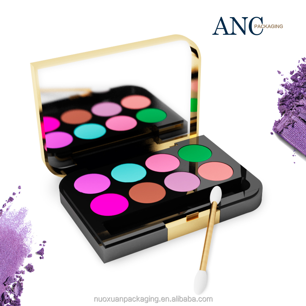 ANC star product good quality exquisite craft gold empty eyeshadow palette make your own brand luxury design manufecturer China
