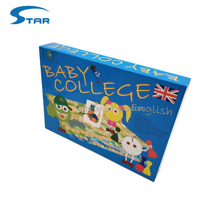 Educational Intellect Family Board Game with Pawns and Dices