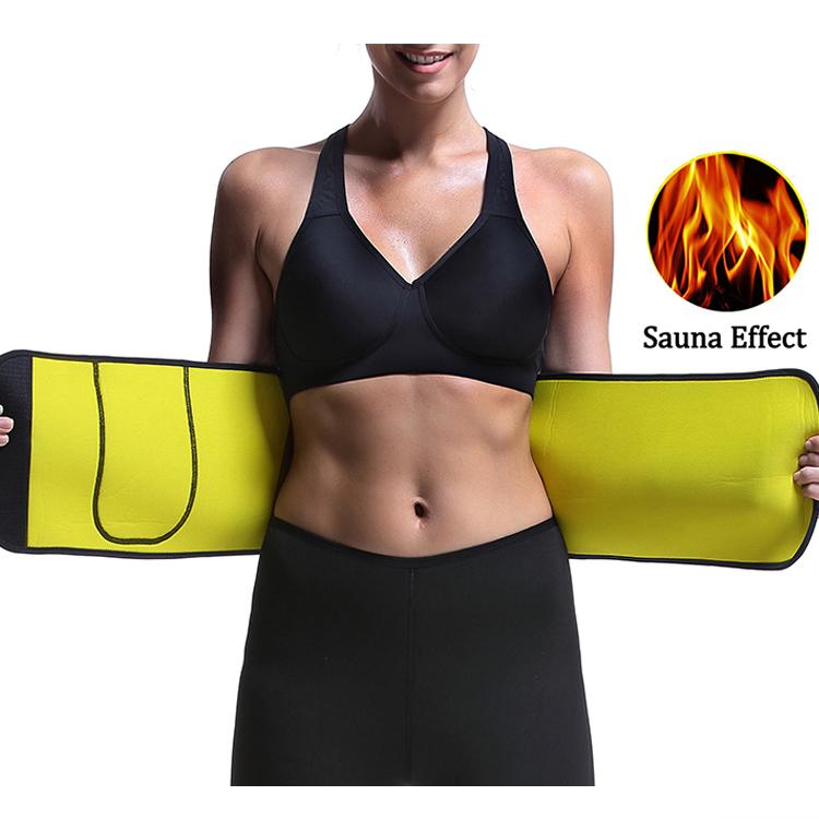 2019 New Design Waist Sweat Belt Elastic Waist Trimmer Sauna Weight Loss Belt, Black or as your request