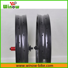Winow hot sell 80mm carbon fat bike wheels 26er full carbon fat wheels bicycle