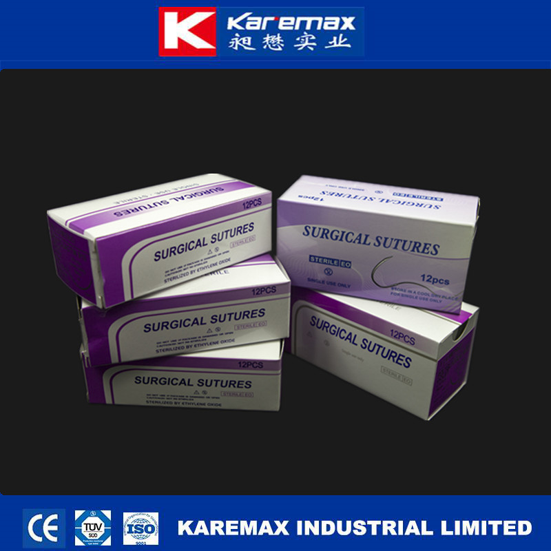 2017 CE/FDA approved black braided silk sutures material