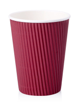 8oz,12oz,16oz disposable hot drink double wall printed paper coffee cup with lid