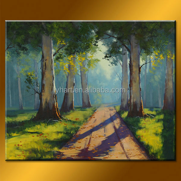 Wholesale handmade modern landscape forest Tuscany oil painting