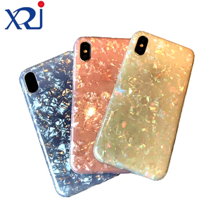 XRJ Glitter Dream Shell Soft TPU IMD Phone Accessories Back Cover Case for iPhone 6 6s 7 8 9 Plus X