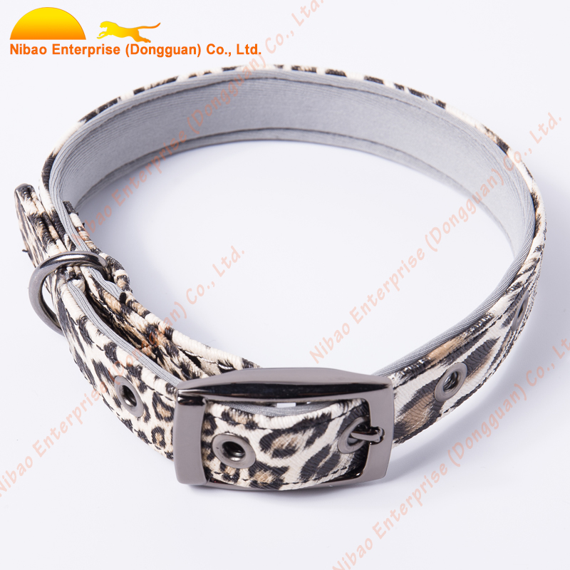 Leopard in patterns PU da dog sản phẩm đổi mới pet dog cat collars