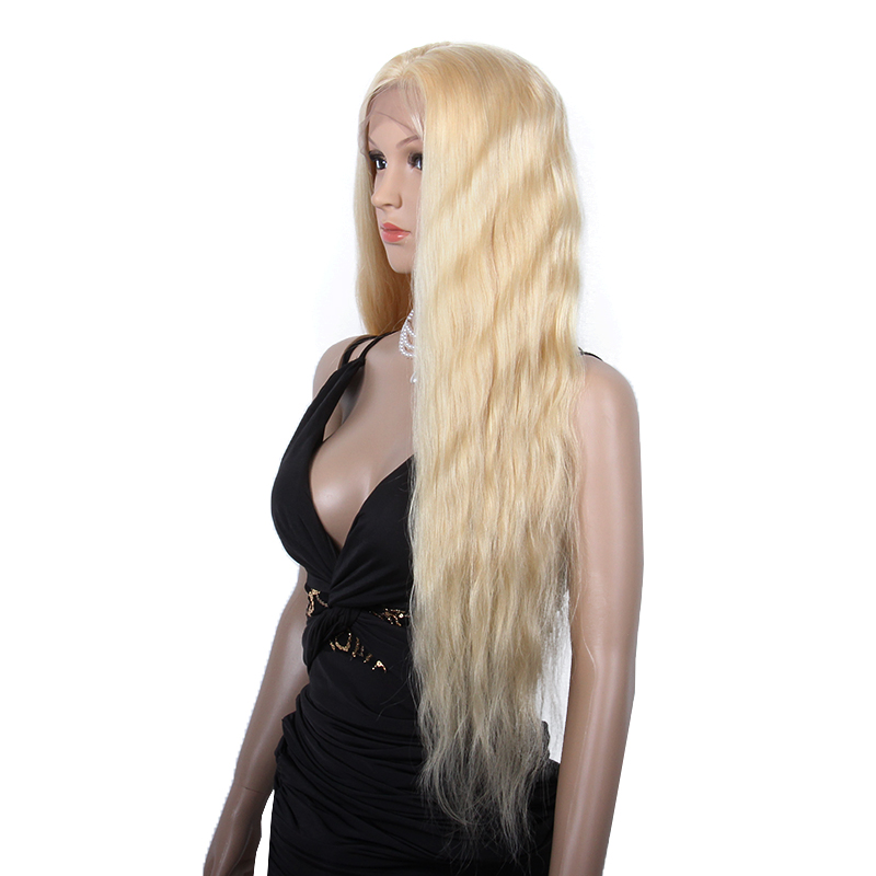 Alibaba.com / 613# Blonde Color Virgin Brazilian Human Hair Long Blonde Full Lace Wig