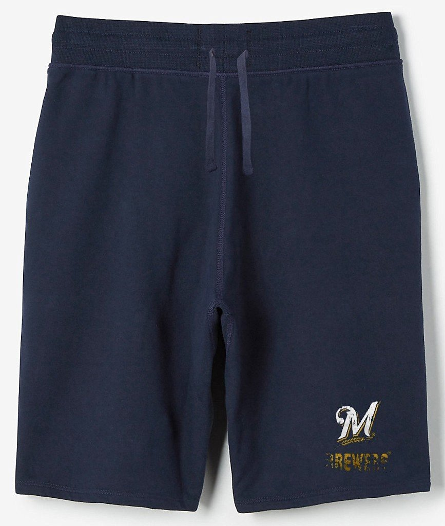 Milwaukee Brewers MLB Mens Majestic Cotton Shorts Navy Blue Big   Tall Sizes aa0a9ee7b