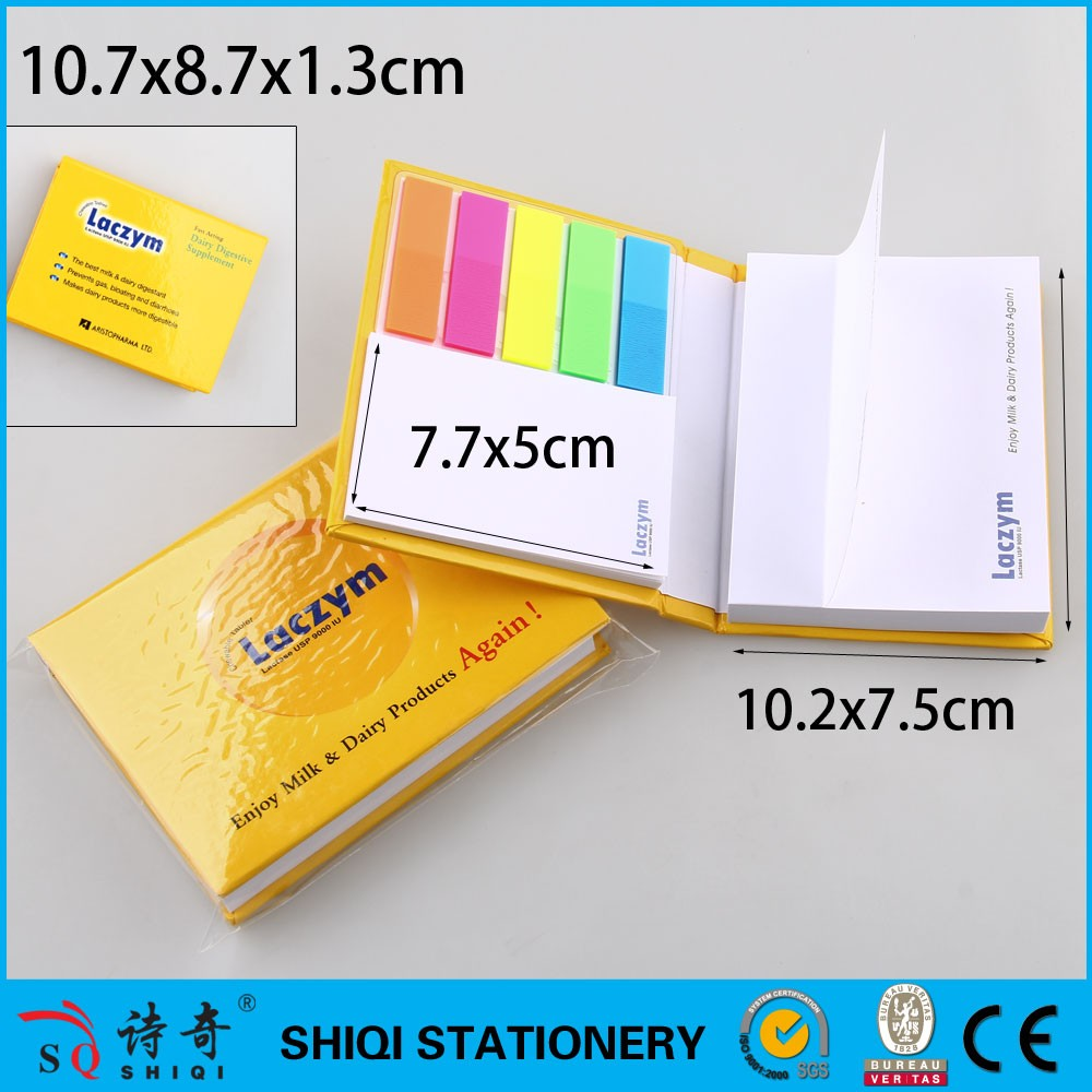 Customized promotion sticky note memo pad with hardcover