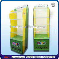 TSD-A352 Custom high quality floor plastic milk product display stand,milk powder display rack,baby shop display