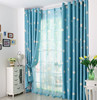 blue sky white cloud pattern curtain fabric for baby room curtain