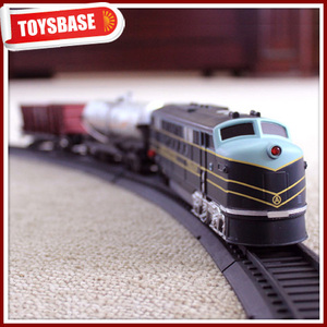Kids Funny B/O Battery Operated 1:87 Plastic Classic Railway Electric Locomotive model cartoon toy train steam locomotives