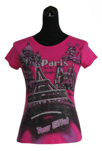 Fashionable Souvenir T-shirt, Made of 95% Polyester and 5% Spandex, Small Orders are Welcome