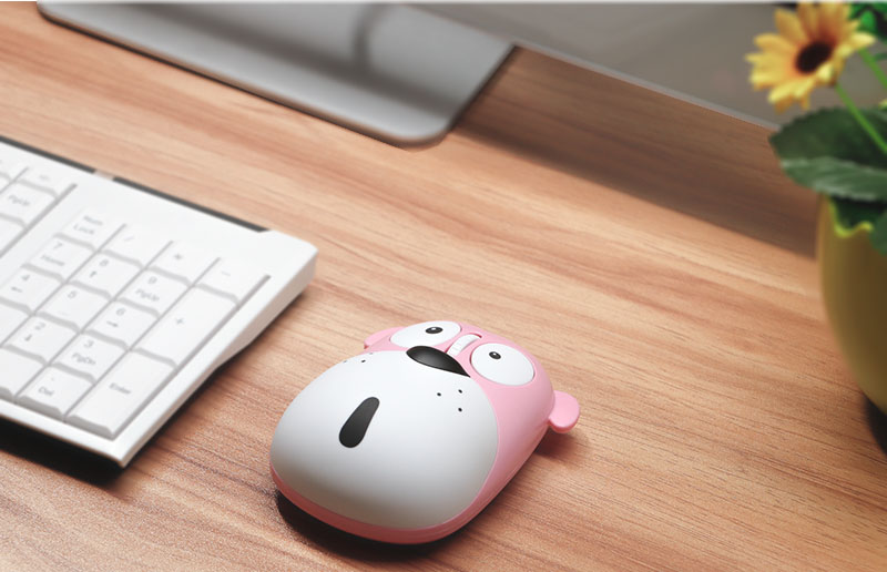 2018  cartoon wireless mouse rechargeable wireless mouse