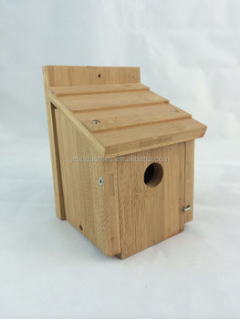 Bamboo bird house on customized types buy birdhouse for Different types of birdhouses