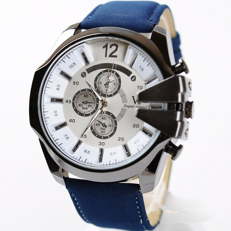 2015 New Arrival V6 Brand big dial Men watch military fashion watches high quality quartz sports wristwatches gift