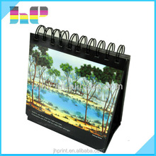 Bright color top quality office/business folding calendar printing