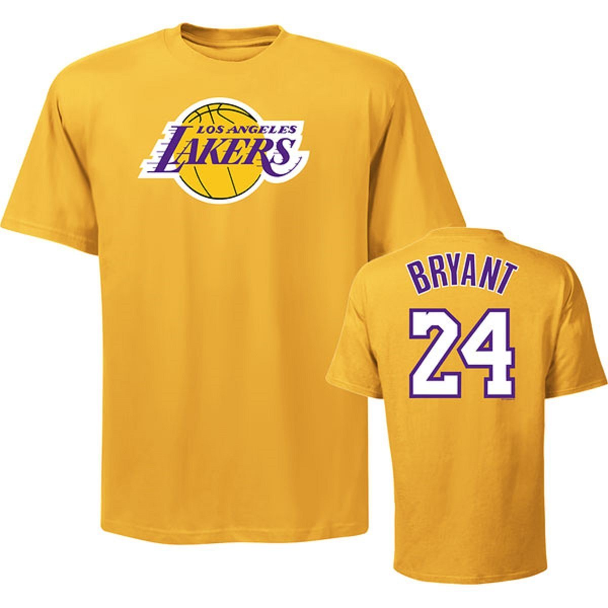 59dc0589a Get Quotations · Los Angeles Lakers Kobe Bryant Youth Yellow Gold Name and Number  T-Shirt (Youth