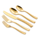 Gold Flatware Set, Stainless Steel Silverware, Rose Gold Cutlery