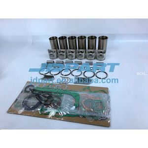 DL08 Rebuild Kit With Engine Bearings Cylinder Liner Piston Rings Full  Gasket Kit For Doosan