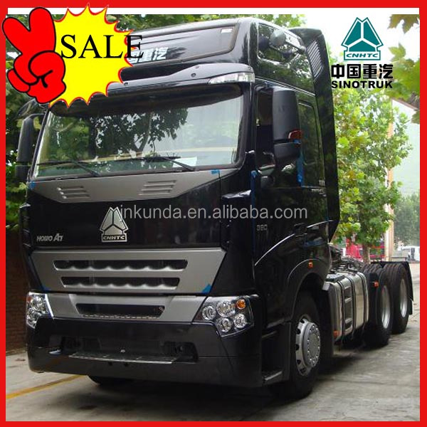 Super power 371hp howo a7 diesel 6x4 towing tractor truck in Colombia