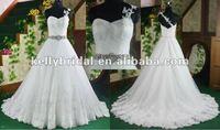Wedding Dress 2012 Popular Best Selling Aline Lace Bridal Wedding Gown