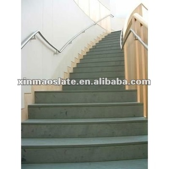 Black Slate Stone Stair Steps/black Natural Honed Slate Stone Stairs Tread