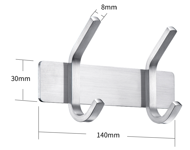 factory decorative wall hooks metal hanger removable wall hooks 304 stainless steel