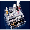 wholesale luxury clear acrylic makeup organizer with drawer