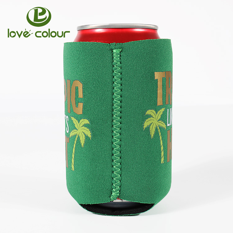 Custom foldable Insulated beer stubby holder christmas promotional neoprene can cooler sleeve coolies