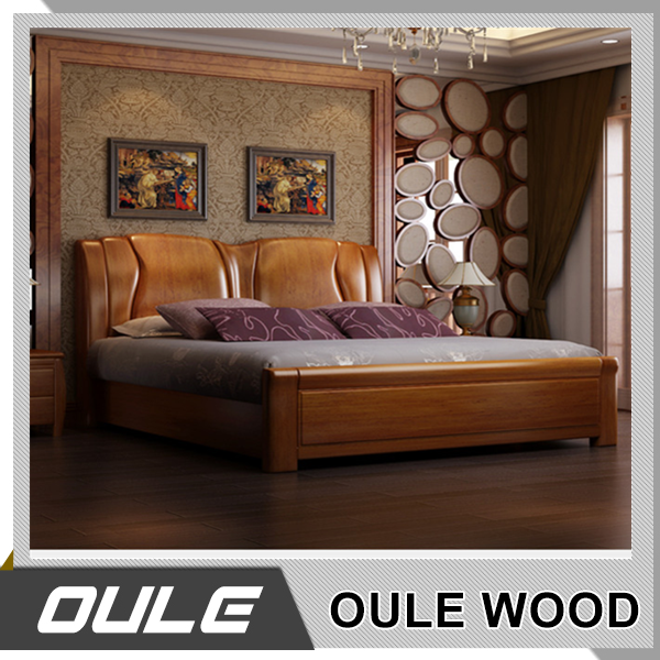 Indian Simple Design Bedroom Furniture Solid Wood Double Bed - Buy ...