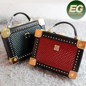china online shopping tote Box handbag classical designer handbag rivet leather handbag EMG4366