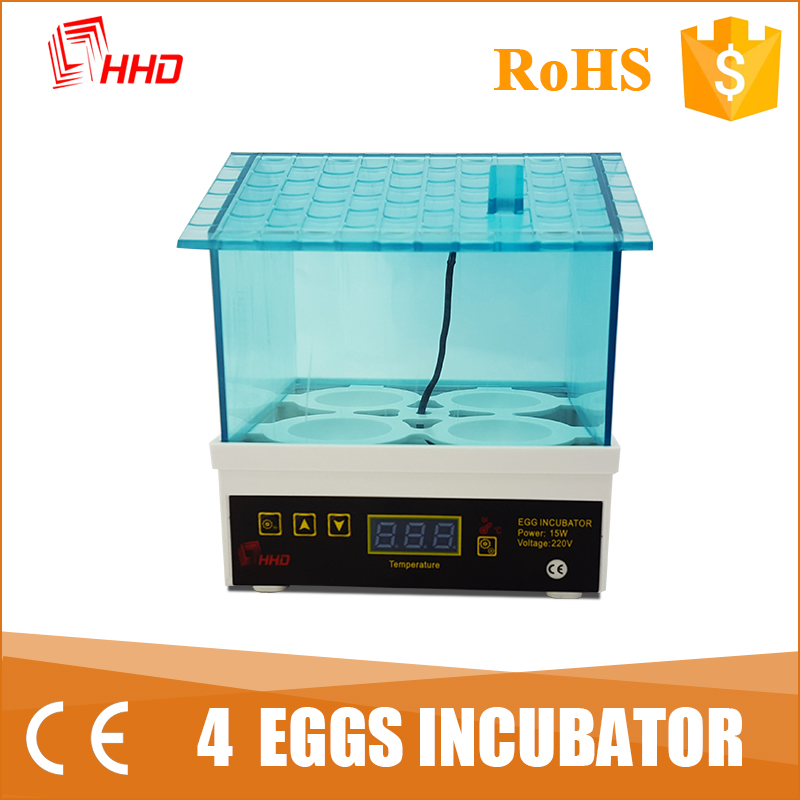 HHD Free spare parts provided 4 chicken egg incubator/quail incubator prices YZ9-4