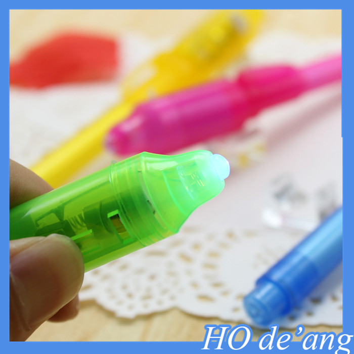 hot selling multifunction magic invisible ink uv light pen for marking Invisible pen MHo-302