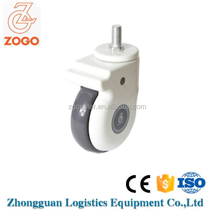 4/5 Inch hospital bed caster wheel/ instrument caster wheel with certificate ISO