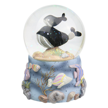Aquarium glass water ball handmade whale snow globe for sale