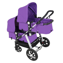 european 2-in-1 twin stroller double buggy baby pram luxury for twins