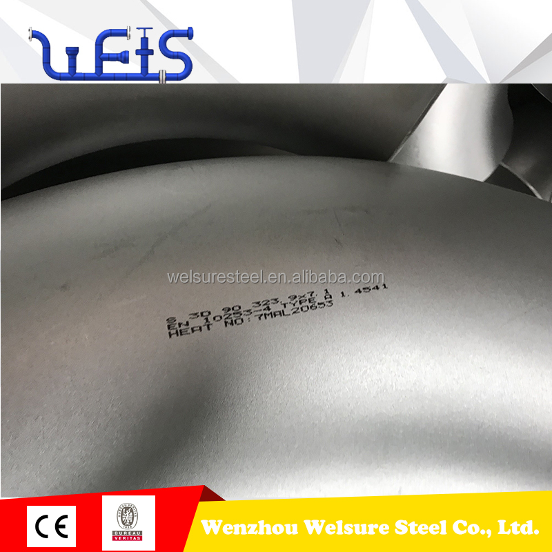 304 butt-welded stainless steel Pipe Fittings Bends