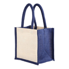 Silk print Wholesale Eco-friendly Custom Jute Bag Shopping Bag with Cotton String